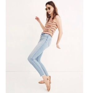 Madewell High Rise Skinny Crop Jeans Front Button
